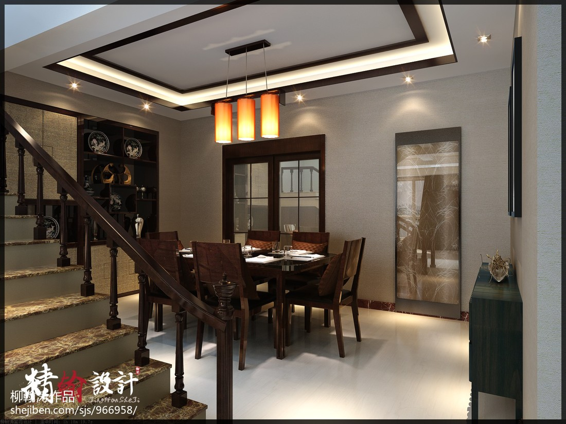 美式客厅窗帘设计效果图片