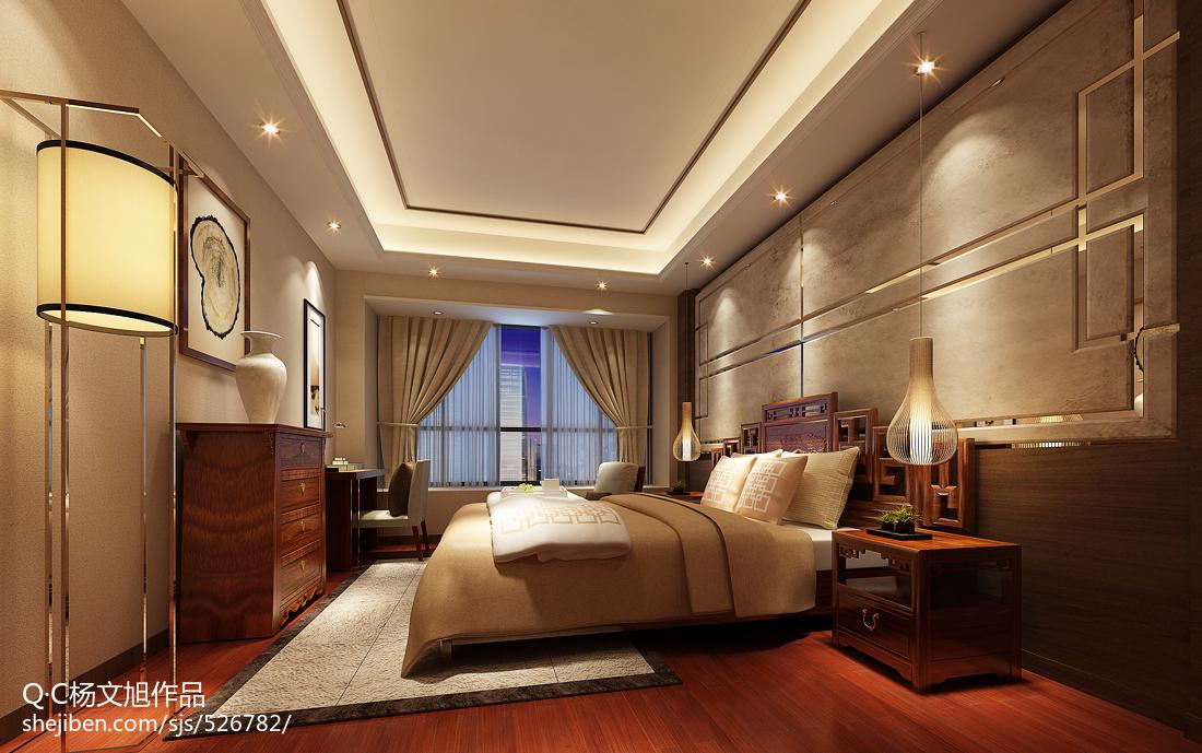 中式经典卧室装饰效果图