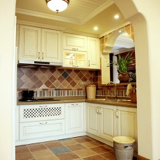 精选面积108平美式三居厨房装饰图