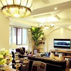 精选91平米三居客厅美式装修实景图片