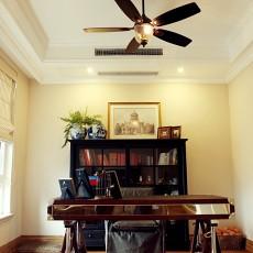 热门97平米三居书房美式装修实景图片大全