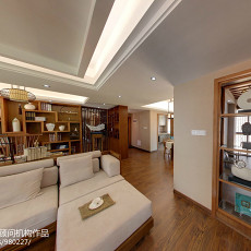2018126平米四居客厅中式装修图片