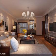 108平米三居客厅中式装修效果图片