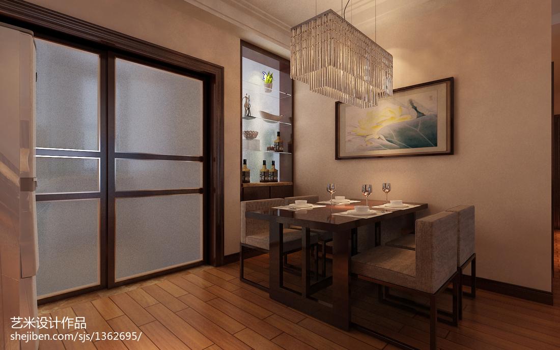 简单中式餐厅装修图片