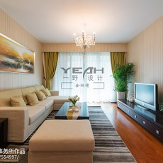 热门面积105平现代三居客厅效果图片大全