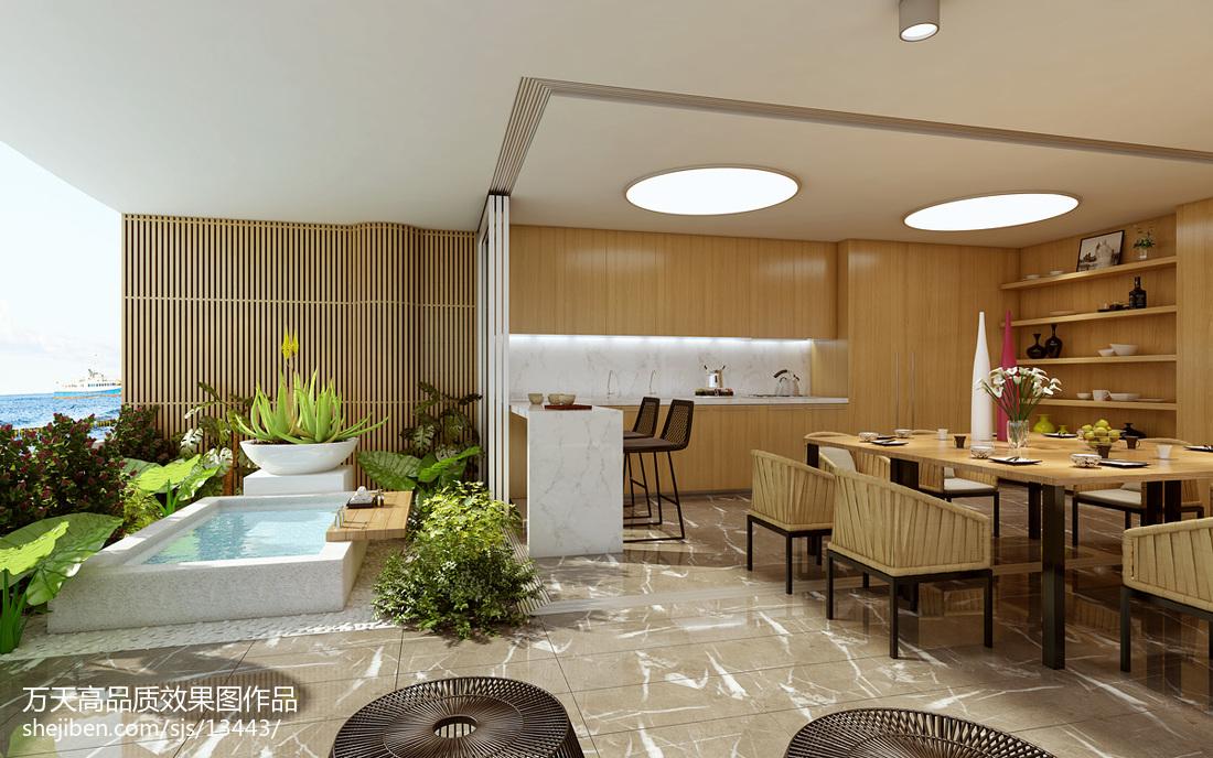 现代别墅餐厅装修设计效果图片大全