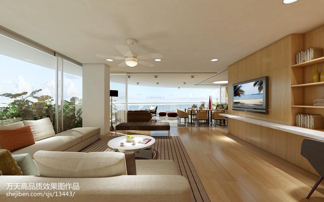 热门大小124平别墅客厅现代装修效果图片大全