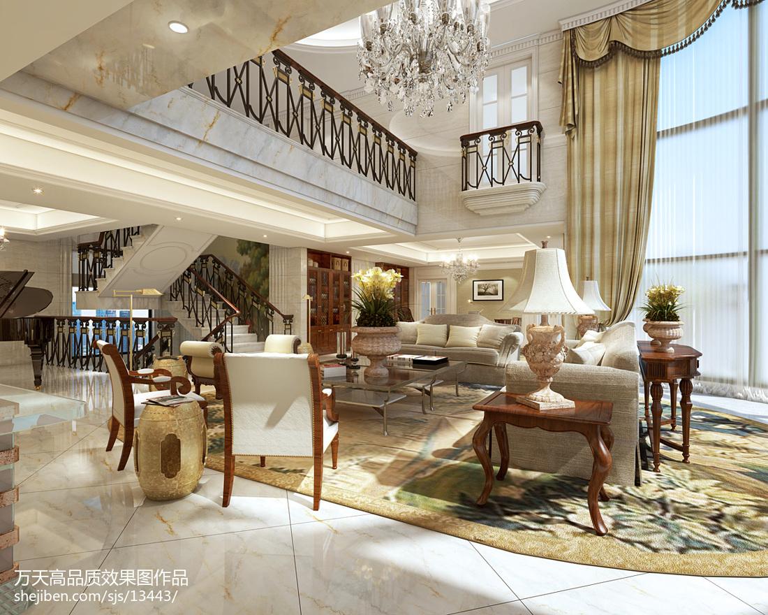 135平米现代别墅客厅装修图片欣赏