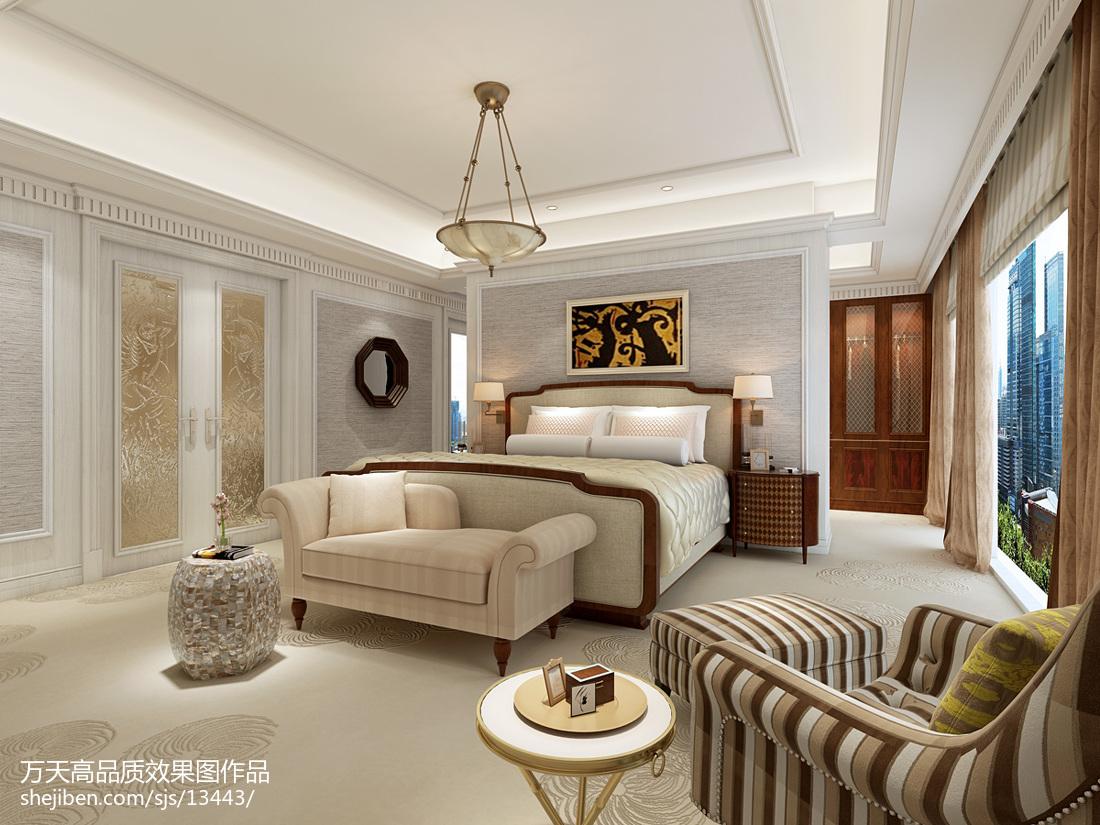 精美面积143平别墅卧室现代装修欣赏图片