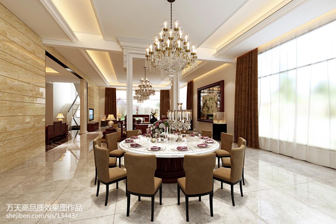 精选现代别墅餐厅欣赏图片