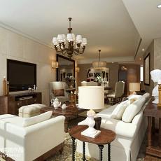 面积128平别墅客厅欧式装修设计效果图片大全