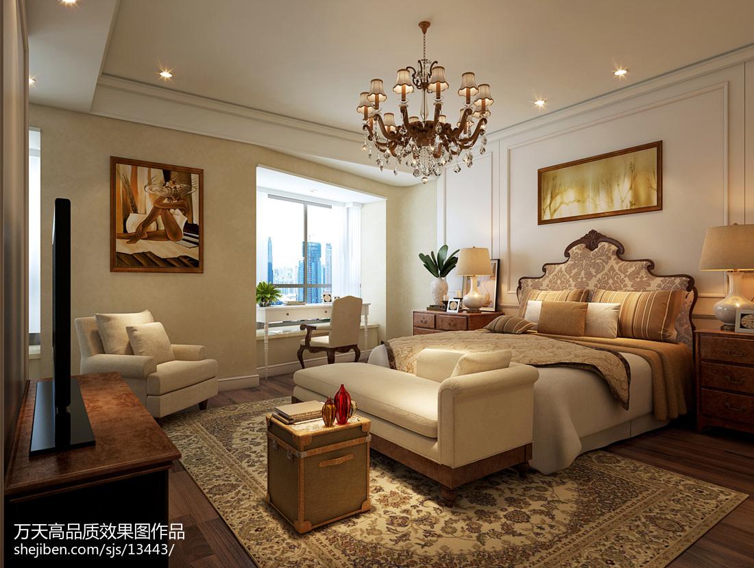 热门130平米欧式别墅卧室装修欣赏图