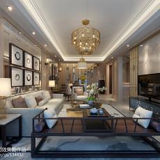 精美110平方欧式别墅客厅设计效果图