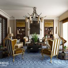 面积138平别墅客厅欧式装修图片欣赏