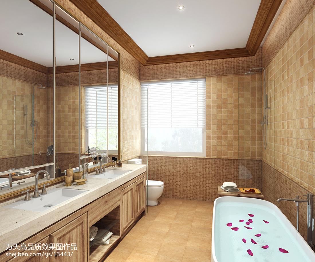 热门127平米欧式别墅卫生间装修设计效果图片欣赏