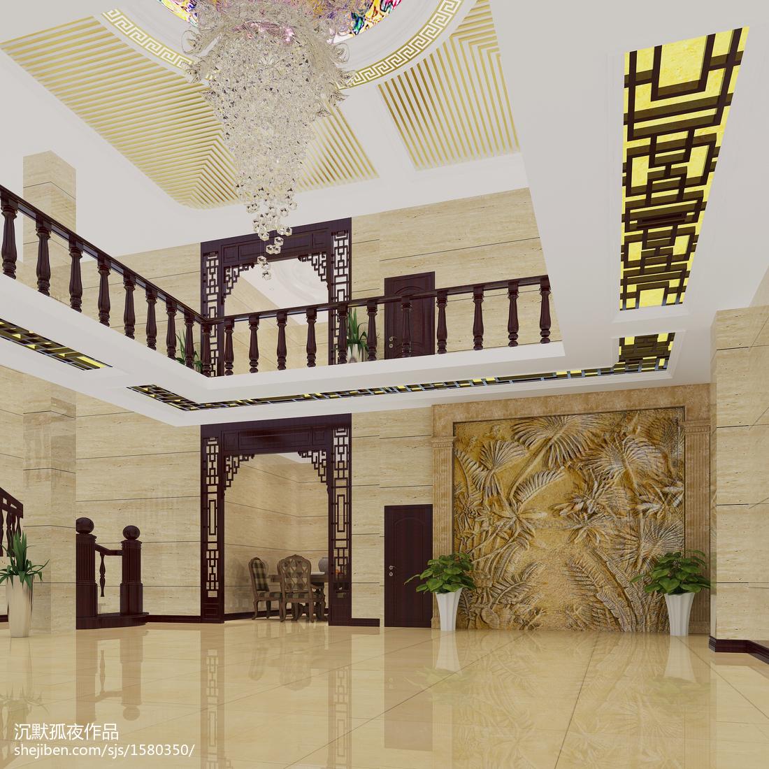 124平米欧式别墅休闲区效果图