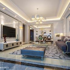 热门139平米欧式复式客厅设计效果图