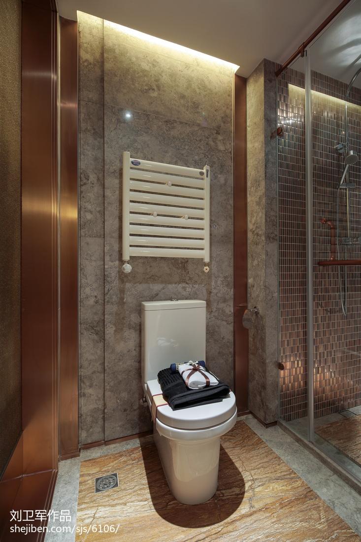 现代卫生间大理石地板砖装修图片