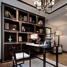 中式风格样板房设计书房多宝格博古架装修效果图