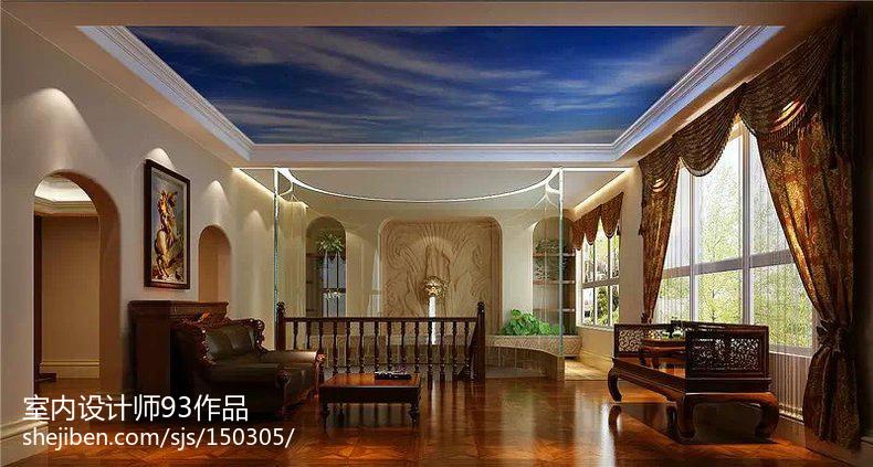 中西混搭风格房屋室内设计效果图
