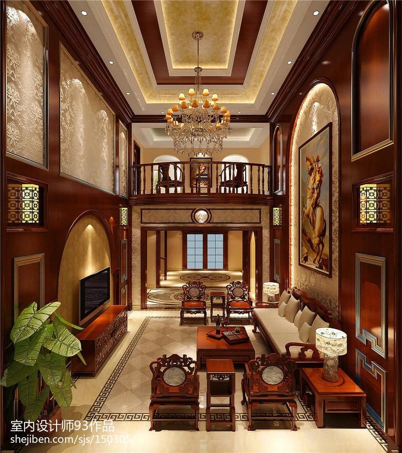 中式别墅房屋室内设计效果图