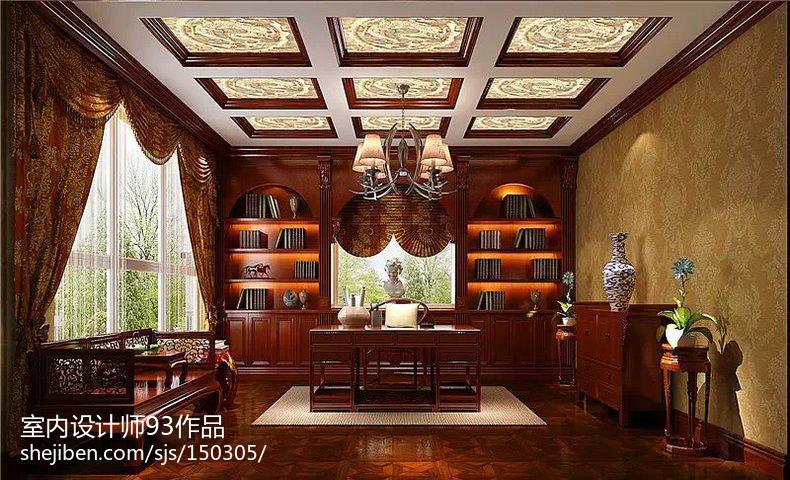 家居仿古书房装饰图片