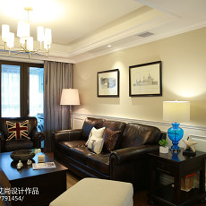精选面积120平美式四居客厅装修欣赏图
