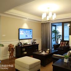 2018精选135平米四居客厅美式装修设计效果图片欣赏