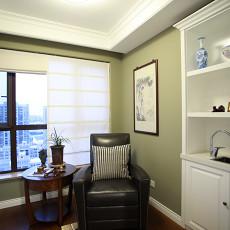 四居室美式风格书房吊顶装修图