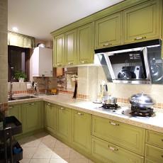 精选面积125平美式四居厨房装修图