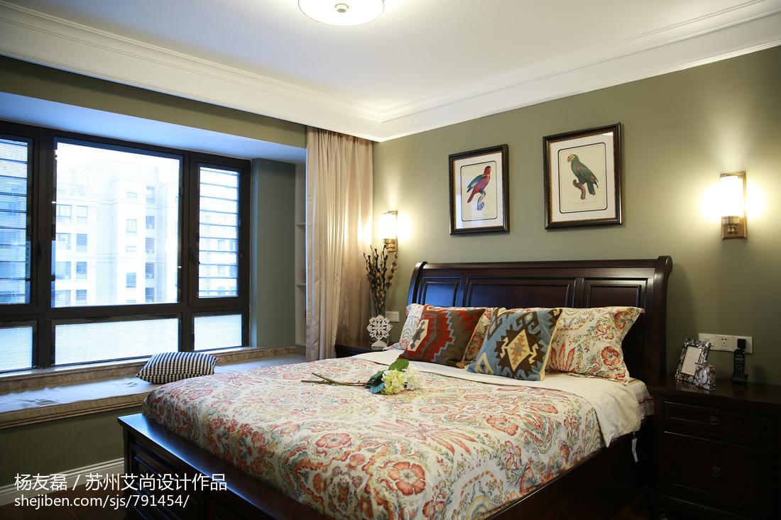 美式卧室窗户装修