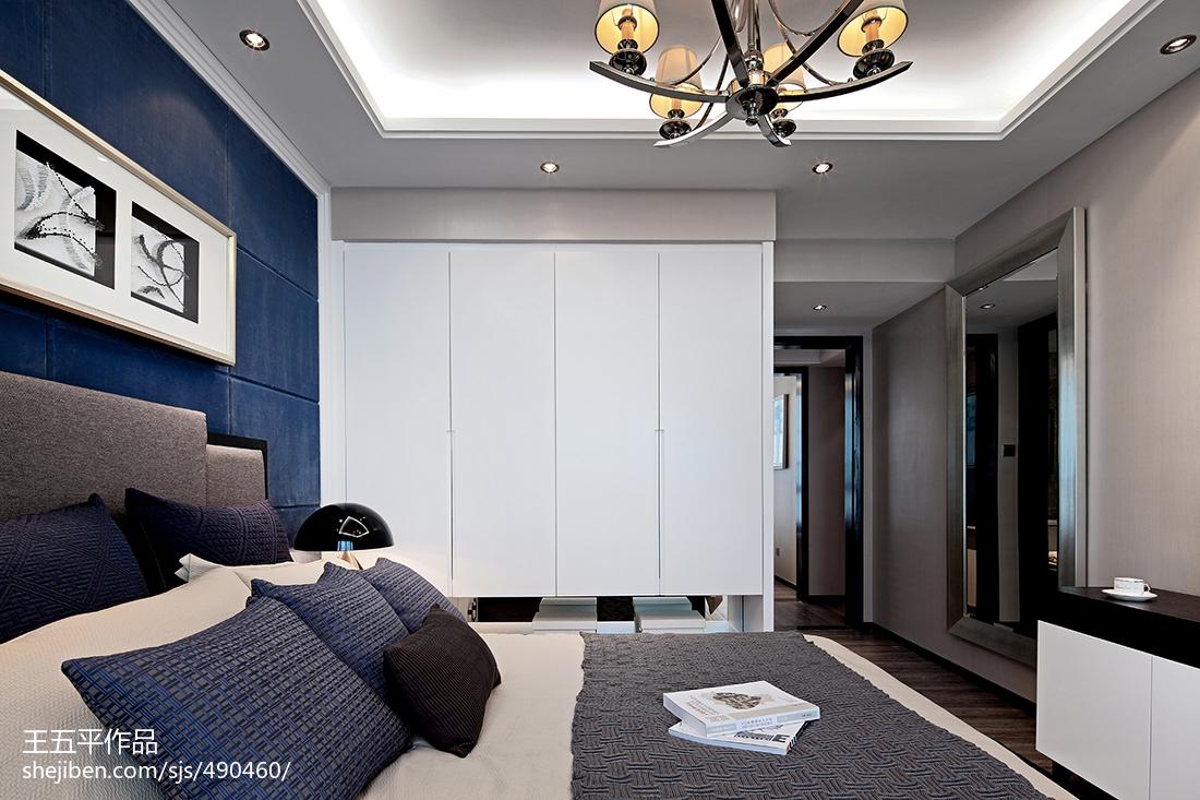 样板房深蓝色房间装修效果图