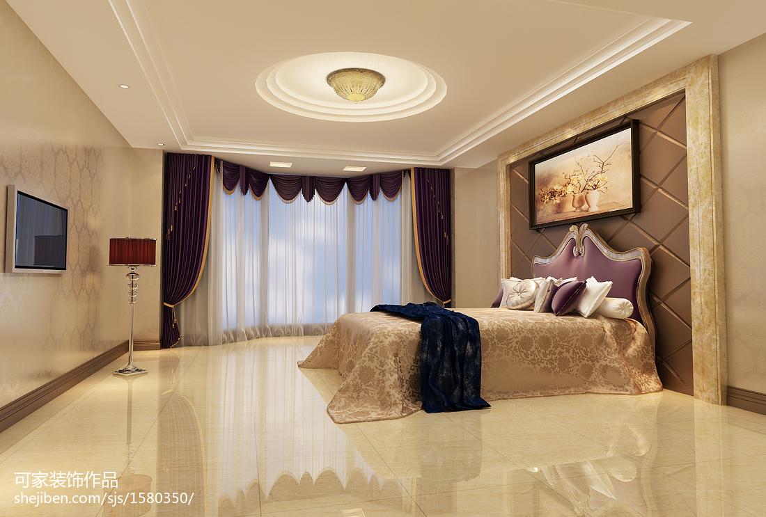精选面积141平别墅卧室欧式装饰图片欣赏