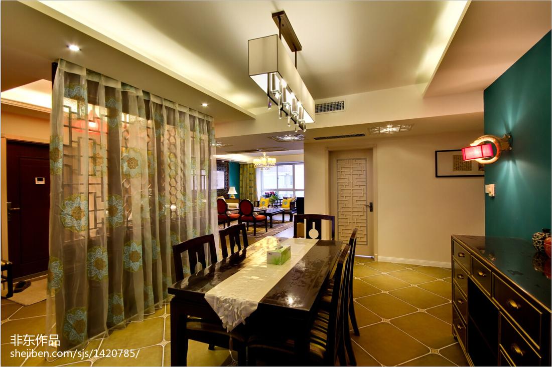 精选面积113平别墅餐厅中式效果图片大全