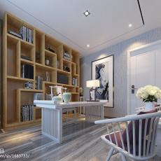 精选面积109平中式三居书房装饰图片