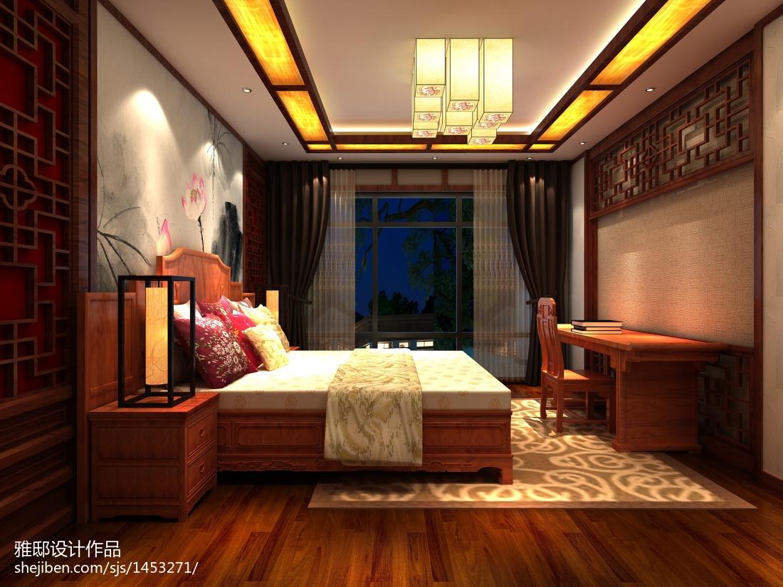 精选三居卧室中式装修图