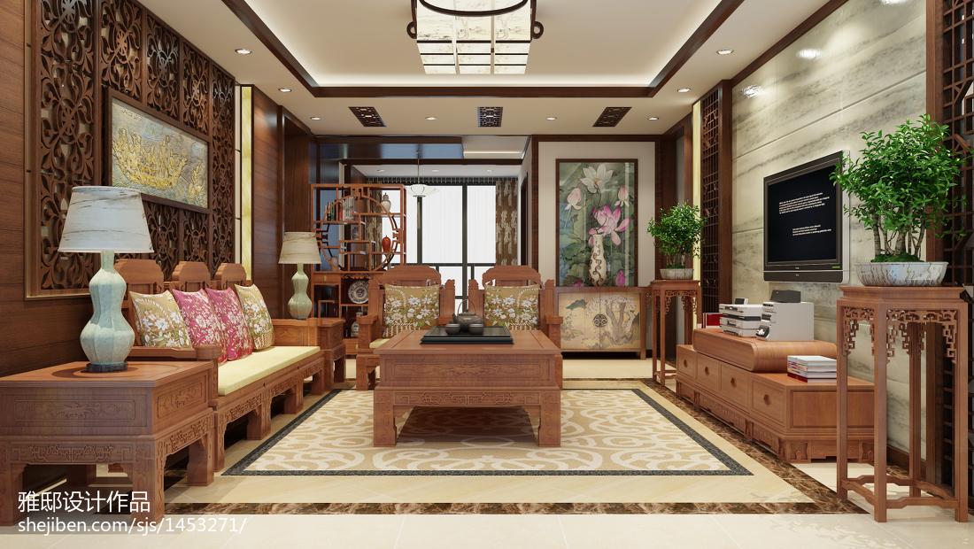 201891平米三居客厅中式效果图片