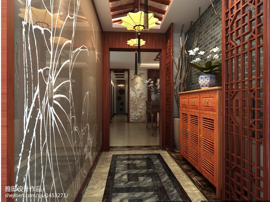 中式雕花门玄关家装设计