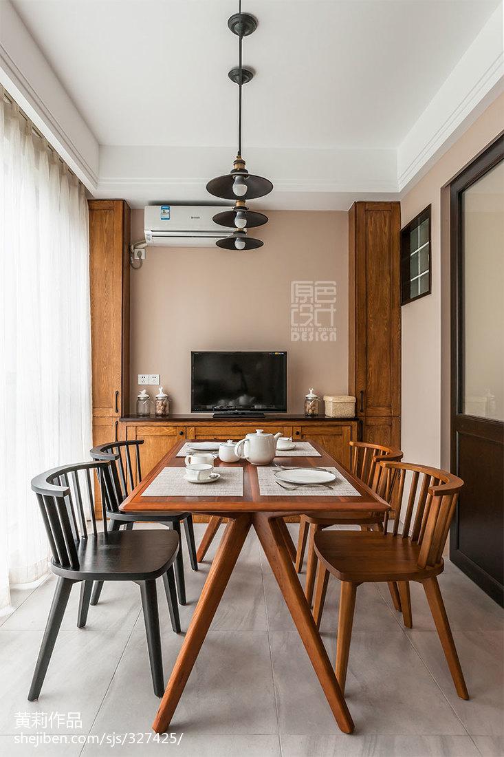 精选面积108平混搭三居餐厅装修设计效果图片