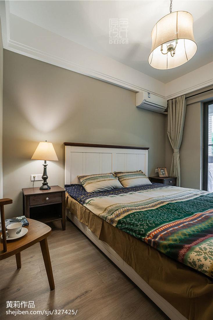 混搭风格三居室卧室地板革装修图片