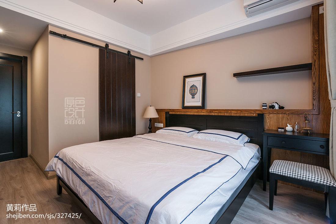 2018面积92平混搭三居卧室装修设计效果图片欣赏