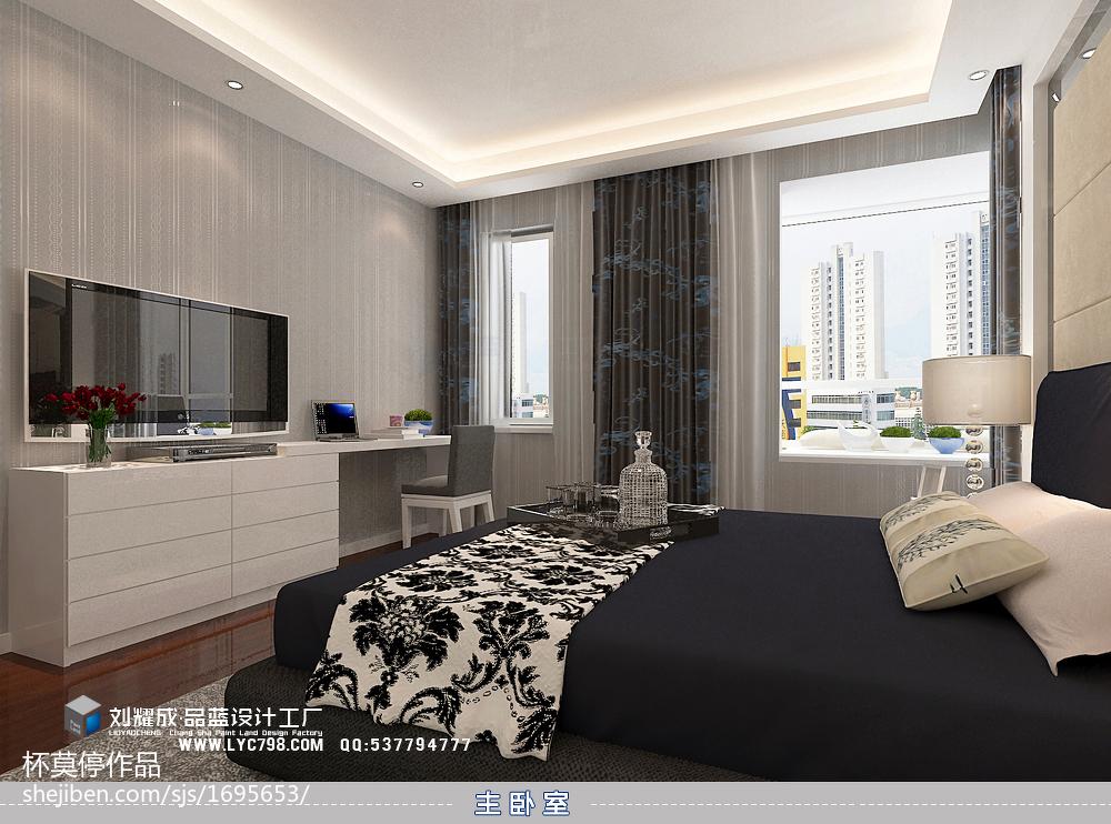 201891平方三居卧室现代装修效果图片