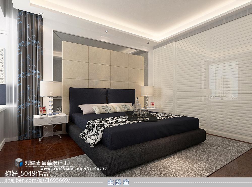 精选106平米三居卧室现代装修设计效果图片大全