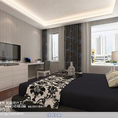 热门大小109平现代三居卧室装饰图片欣赏