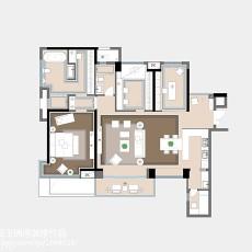 2018精选面积128平欧式四居客厅装修图片大全