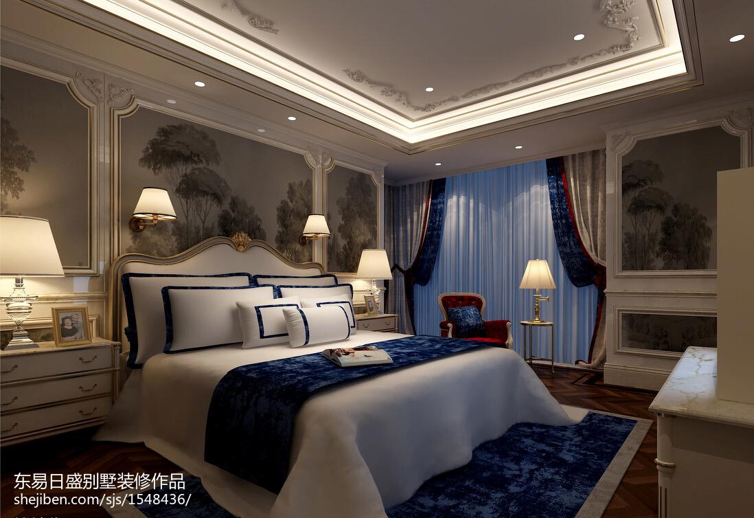 热门大小114平别墅卧室欧式实景图片欣赏