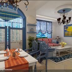 2018面积96平地中海三居餐厅装修效果图