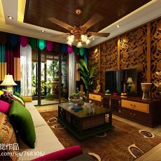 2018精选四居客厅东南亚设计效果图