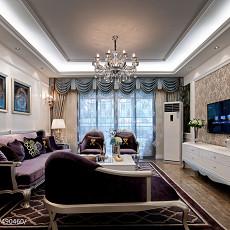 新古典风格样板房客厅吊顶装修效果图大全2017图片