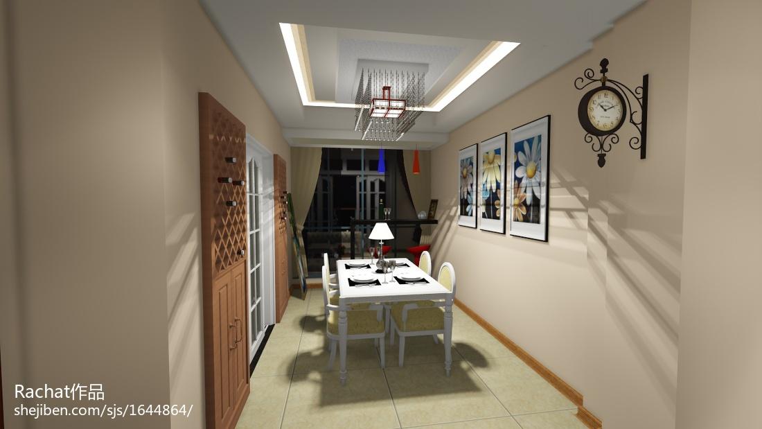 103平米三居餐厅欧式装修图片大全